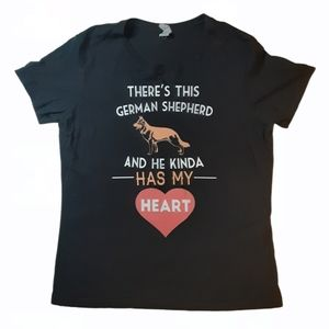Next Level Apparel German Shepherd I Love Dogs Tee